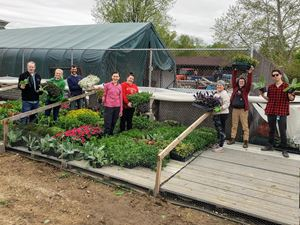 A work day at Olbrich Gardens in Madison, WI.