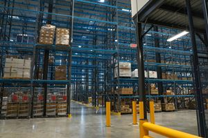 A connected warehouse makes moving materials from storage into production a breeze.