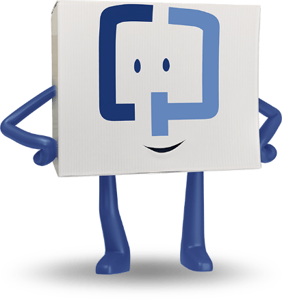 smiling Cologuard character with hands on hips