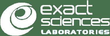 white Exact Sciences Laboratories logo